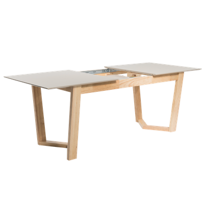 (As is) Meera Extendable Dining Table 1.6m - Natural, Taupe Grey - 1 - Image 2