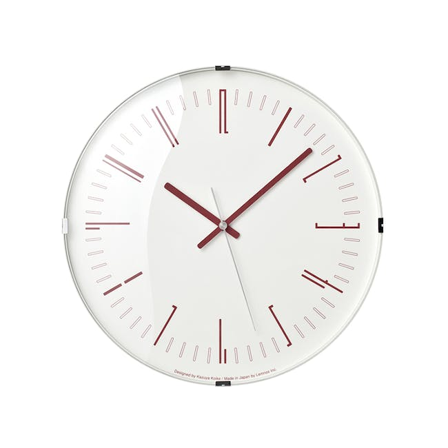 Draw Wall Clock (Dome) - Red - 0