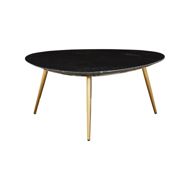 Sienna Marble Coffee Table - Black, Gold - 1