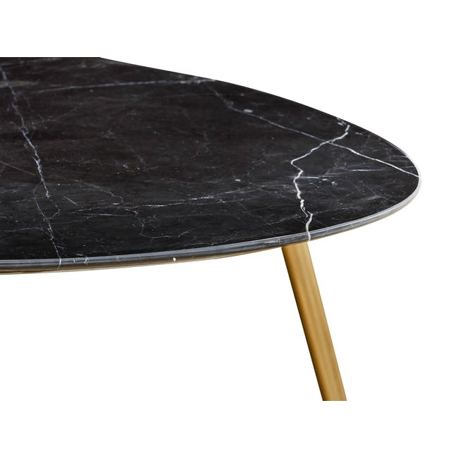 Sienna Marble Coffee Table - Black, Gold - 2