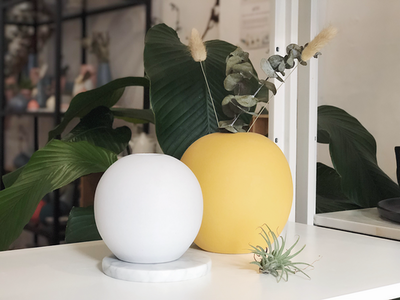Nordic Matte Vase Large Sphere - Mimosa Yellow - Image 2