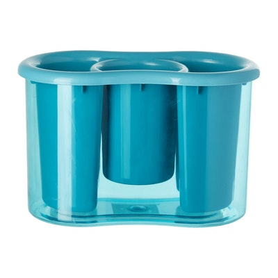 Plastic 3 Compartment Cutlery Holder - Blue