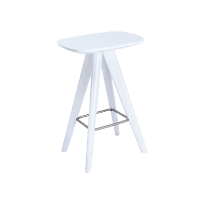 Freya Counter Stool - White Lacquered - Image 1