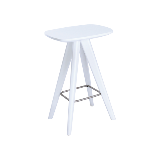 Malmo - Freya Counter Stool - White Lacquered