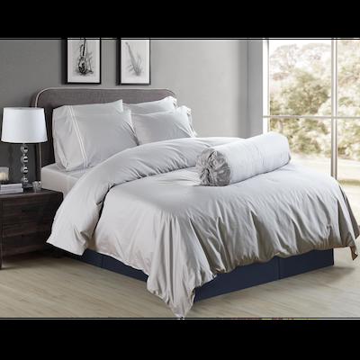 (Queen) Hotelier Prestigio™ 6-pc Bedding Set - Grey Silver Embroidery - Image 1