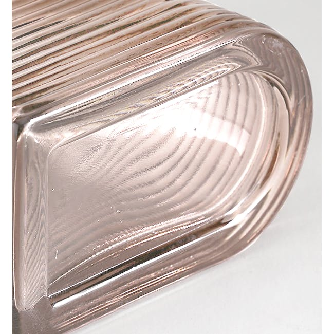 Flor Retro Ribbed Vase 20 cm - Dusty Pink - 2