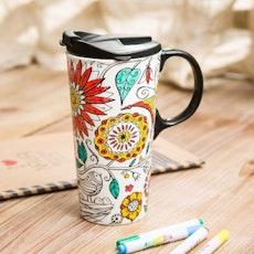 DIY Ceramic Travel Mug - Nature
