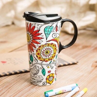 DIY Ceramic Travel Mug - Nature