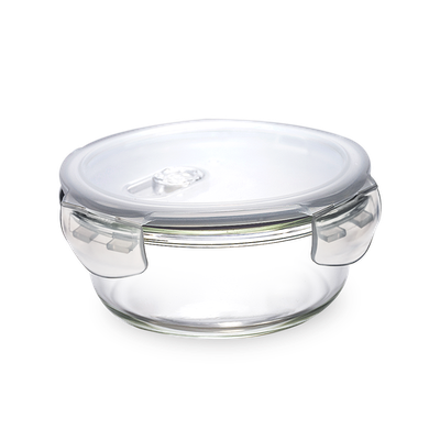 PICNIC Round Glass Food Storage with Lid - 350 ml - Image 1