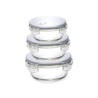 PICNIC Round Glass Food Storage with Lid - 350 ml - Image 2