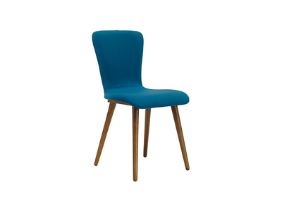 Valley Fabric Seat Dining Chair - Cocoa, Teal - Image 1