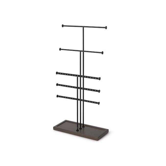 Trigem 5 Bar Jewelry Stand - Black, Walnut - 0