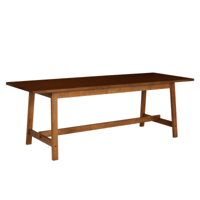 Haynes Dining Table 2.2m with 4 Riley Dining Chairs - Walnut - Image 2