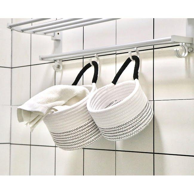 Hilde Rope Basket with Hanging Loop (Set of 2) - 3