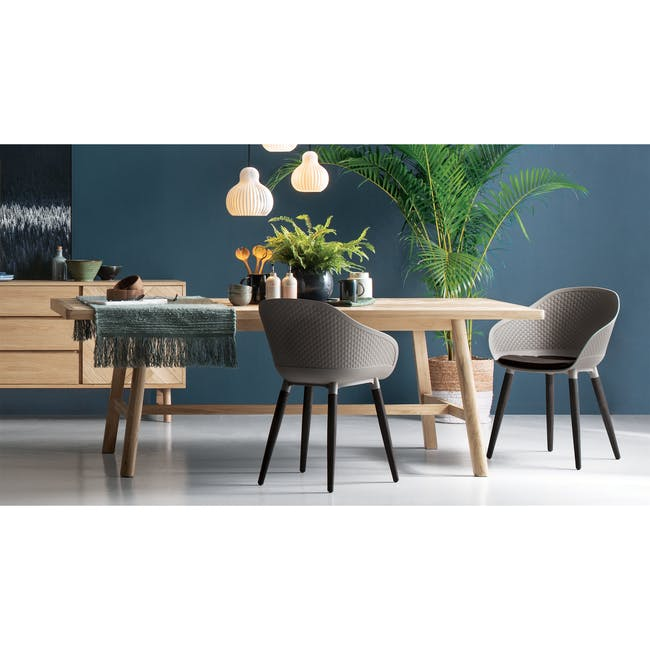 Cody Dining Armchair - Taupe - 1