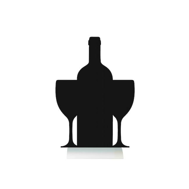 Securit Wine Bottle-Shaped Table Chalkboard - 0