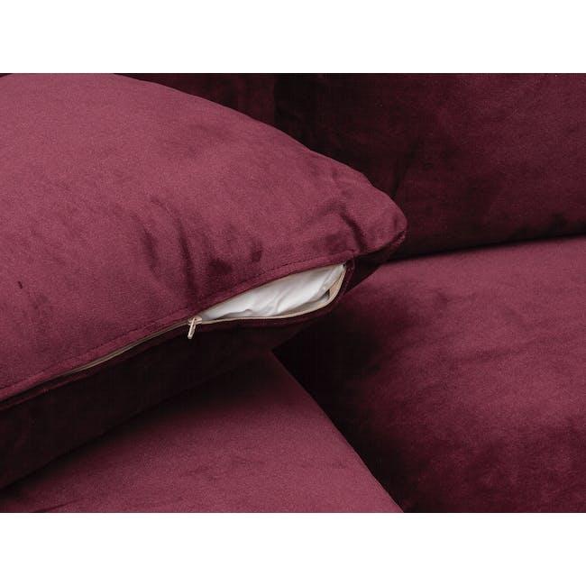 Sable 3 Seater Sofa - Ruby (Velvet) - 6