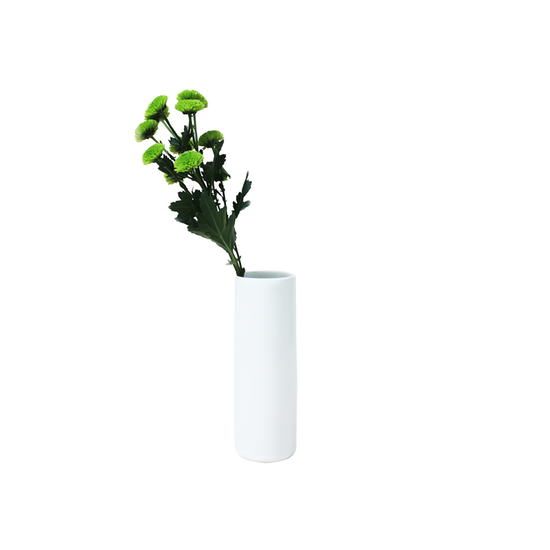 Nordic Matte Vase - Nordic Matte Vase Medium Straight Cylinder 20 cm - White