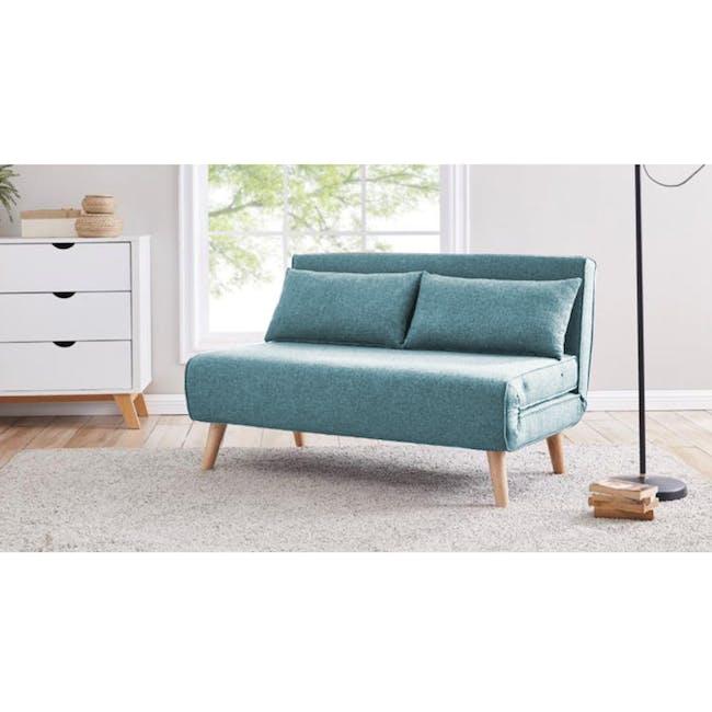 Noel 2 Seater Sofa Bed - Teal - 3