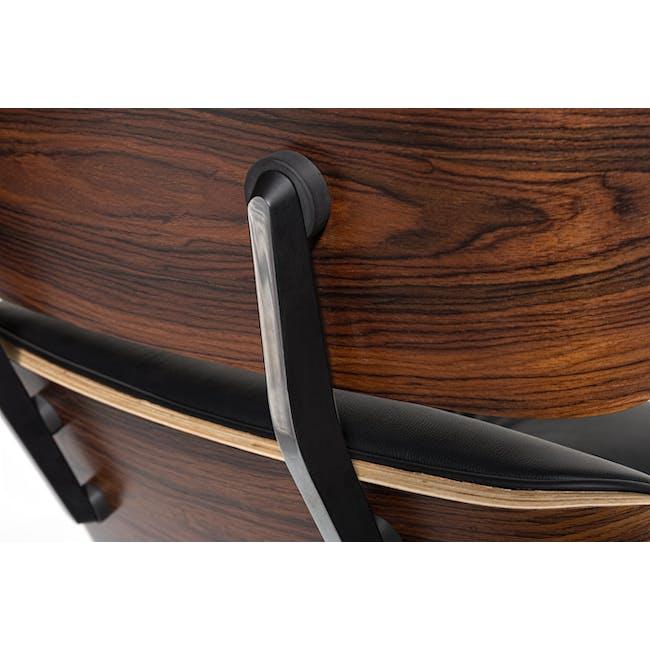 Eames Lounge Chair and Ottoman Replica - Black (Genuine Cowhide) - 6