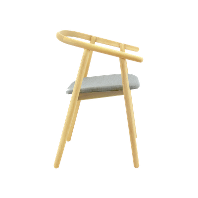 Glen Dining Chair - Oak, Squirrel Grey - Image 2