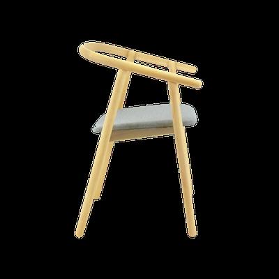 Glen Dining Chair - Oak, Squirrel Grey - Image 2