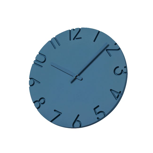 Carved Colored Clock - Blue - 2 Sizes - 1
