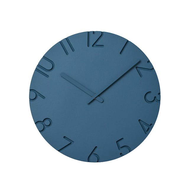 Carved Colored Clock - Blue - 2 Sizes - 0