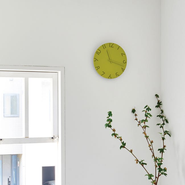 Carved Colored Clock - Blue - 2 Sizes - 2