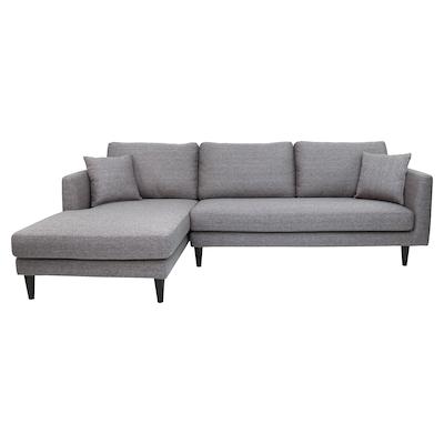 Colin L Shape Sofa - Grey