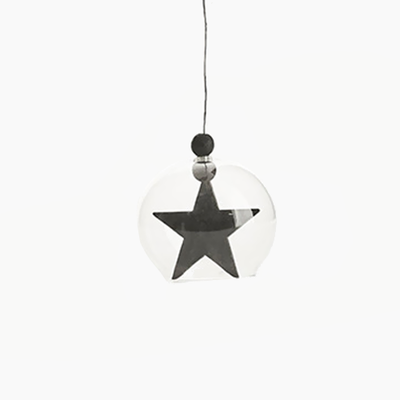 Hanging Star Ornament - Black