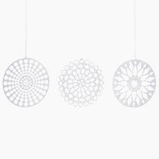 Papercuts Ornament - White