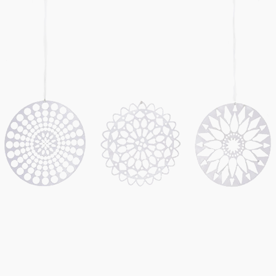 Papercuts Ornament - White