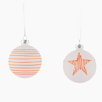 Details Ornament (Set of 2) - White, Neon