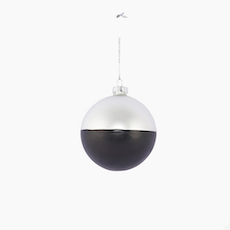Divided Ornament - Black, Grey