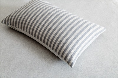 Knitted Cotton Striped Bedding Set - Grey (King)