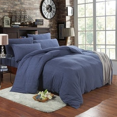 Jersey 4-Pc Bedding Set - Navy Blue - King