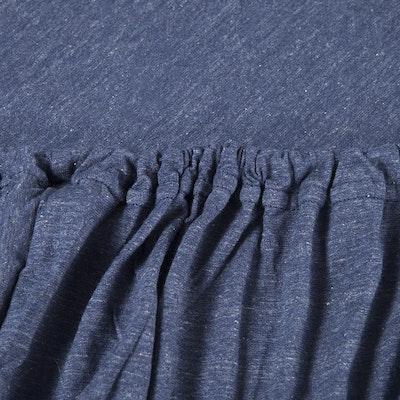 (Super Single) Jersey 4-Pc Bedding Set - Navy Blue - Image 2