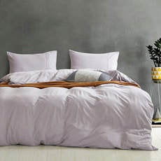Cotton Denim 4-Pc Bedding Set - Grey - Queen