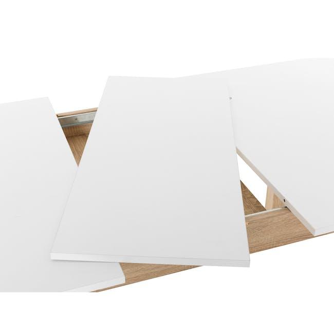 Irma Extendable Table 1.6m - White, Oak - 4
