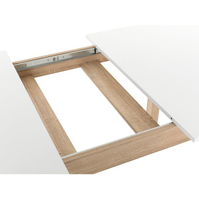 Irma Extendable Table 1.6m - White, Oak - 3