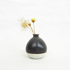 Mini Vase - Metallic Black