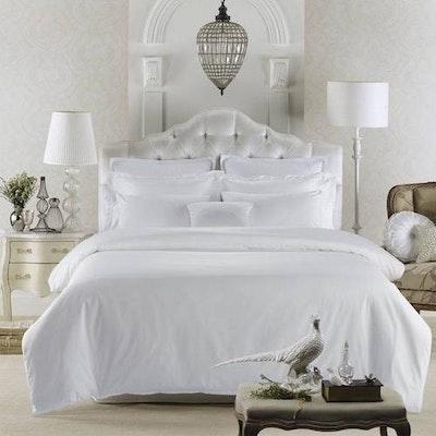 (Super Single) Luxury 5-Pc Bedding Set - Pure White - Image 1