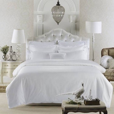 Luxury 5-Pc Bedding Set - Pure White (Single)