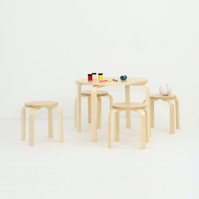 Mizuki Kids' Stool - White - 7