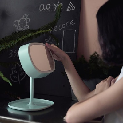 LED Light Vanity Mirror - Pink - Image 2