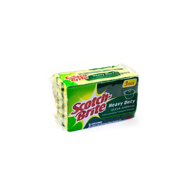 Scotch-Brite Heavy Duty Scrub-Sponge (Pack of 3) - 0