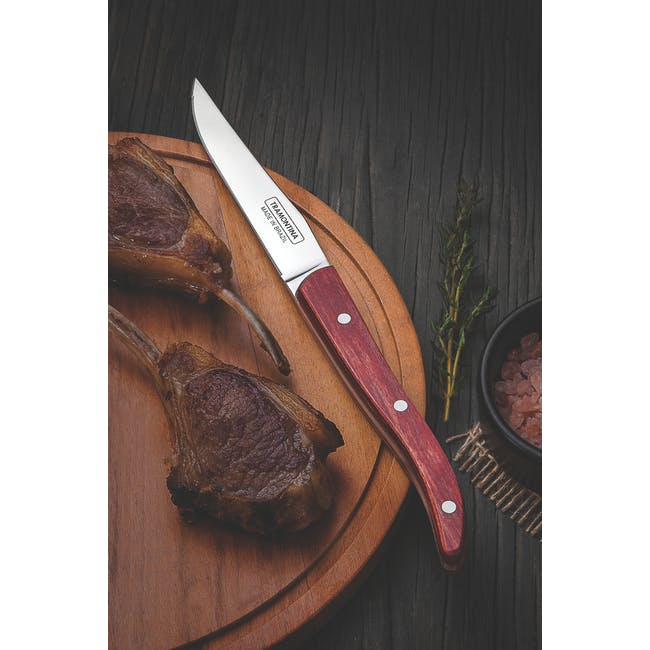 Tramontina 4pc French Steak Knife Set - Red - 1