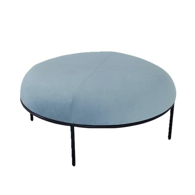 Braton Lounge Chair with Amos Round Ottoman - Jade (Velvet) - 6