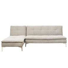 Cozy L Shape Sofa Bed - White